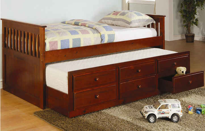 Coaster cherry Daybed with Trundle Mission Style