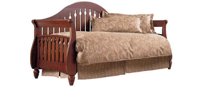 fashion bed group fraser walnut daybed - Daybeds With Pop Up Trundle