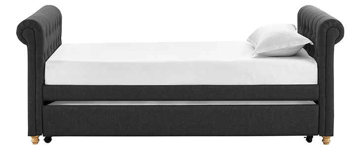 Gray Full Size Daybed : Upholstered daybed mattress wood framed classic