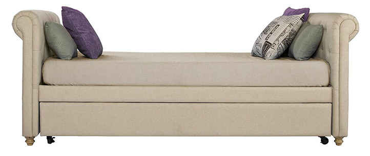 dhp sohpia upholstered daybed tan