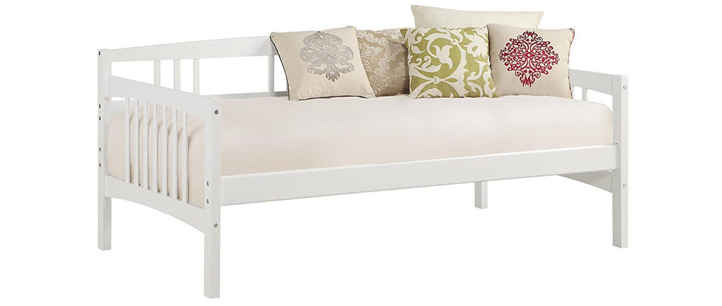 dorel living kayden white daybed