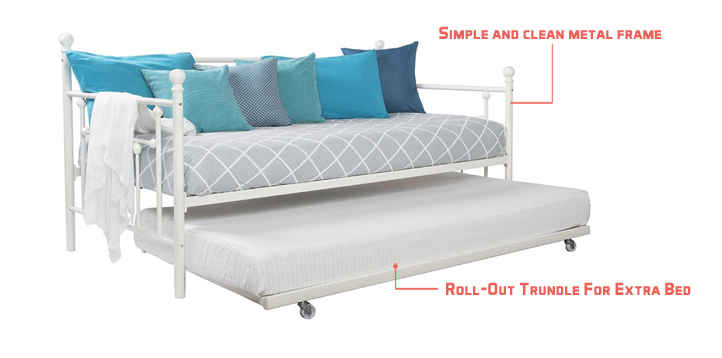 dhp manila metal framed daybed with trundle review