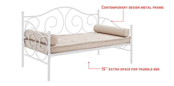 Dhp Victoria Metal Daybed With Trundle Review